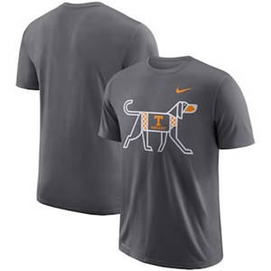 Men's Tennessee Volunteers  Performance Cotton Local T-Shirt - Anthracite