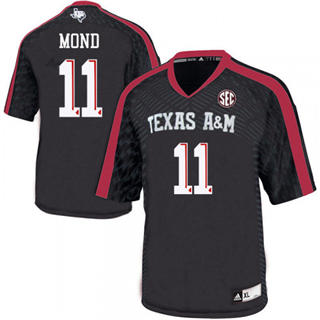 Men's Texas A&M Aggies #11 Kellen Mond Black Football College Jersey
