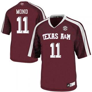 Men's Texas A&M Aggies #11 Kellen Mond Maroon Football College Jersey