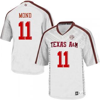 Men's Texas A&M Aggies #11 Kellen Mond White Football College Jersey