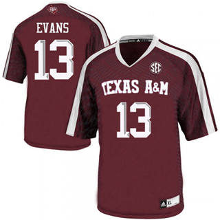 Men's Texas A&M Aggies #13 Mike Evans Red College Football Jersey