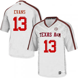 Men's Texas A&M Aggies #13 Mike Evans White College Football Jersey