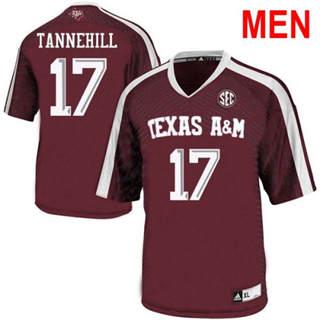 Men's Texas A&M Aggies #17 Ryan Tannehill 2019 NCAA Football Jersey Red