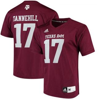 Men's Texas A&M Aggies #17 Ryan Tannehill Alumni Player NCAA Jersey Maroon
