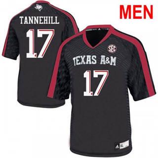 Men's Texas A&M Aggies #17 Ryan Tannehill Black College Football Jersey