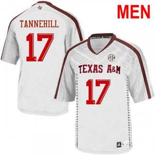 Men's Texas A&M Aggies #17 Ryan Tannehill White College Football Jersey