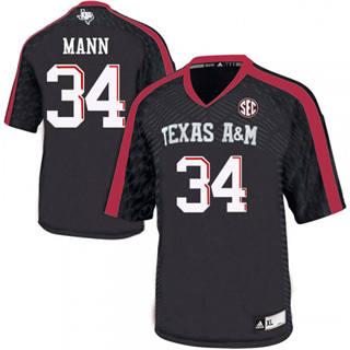 Men's Texas A&M Aggies #34 Braden Mann Jersey NCAA Black 19-20