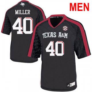Men's Texas A&M Aggies #40 Von Miller 2019 NCAA Football Jersey Black