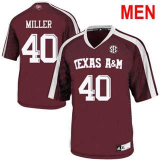 Men's Texas A&M Aggies #40 Von Miller Red 2019 College Football Jersey