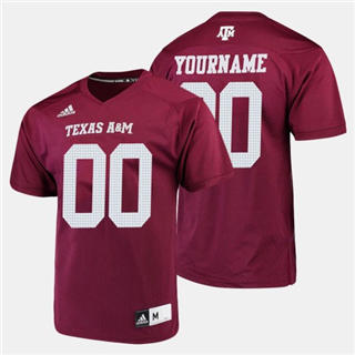 Men's Texas A&M Aggies Custom Name Number Maroon College Football Jersey