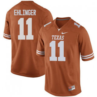Men's Texas Longhorns #11 Sam Ehlinger Jersey Orange NCAA