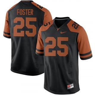 Men's Texas Longhorns #25 B.J. Foster Jersey Black NCAA