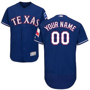 Men's Texas Rangers Customized Alternate Royal Flex Base Custom Baseball Baseball Jersey