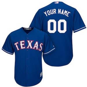 Men's Texas Rangers Customized Royal Cool Base Custom Baseball Baseball Jersey