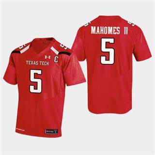 Men's Texas Tech Red Raiders #5 Patrick Mahomes II Jersey Red NCAA