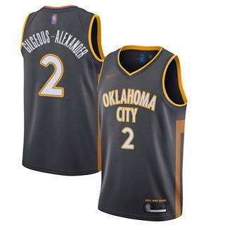 Men's Thunder #2 Shai Gilgeous-Alexander Charcoal Basketball Swingman City Edition 2019-2020 Jersey