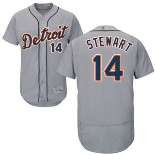 Men's Tigers #14 Christin Stewart Grey Flexbase  Collection Stitched Baseball Jersey
