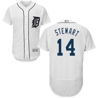 Men's Tigers #14 Christin Stewart White Flexbase  Collection Stitched Baseball Jersey