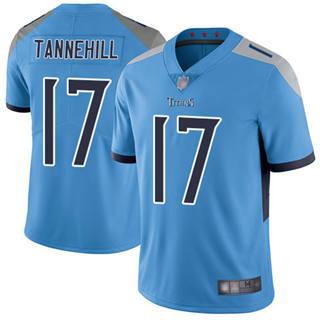 Men's Titans #17 Ryan Tannehill Light Blue Alternate Stitched Football Vapor Untouchable Limited Jersey