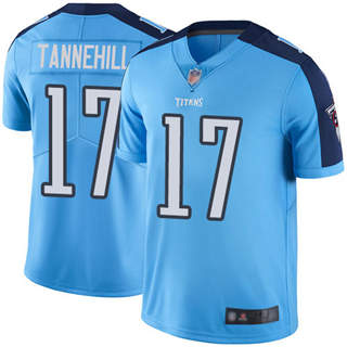 Men's Titans #17 Ryan Tannehill Light Blue Stitched Football Limited Rush Jersey