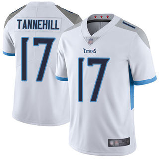 Men's Titans #17 Ryan Tannehill White Stitched Football Vapor Untouchable Limited Jersey