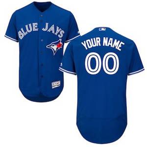 Men's Toronto Blue Jays Customized Alternate Royal Flex Base Custom Baseball Baseball Jersey