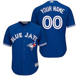 Men's Toronto Blue Jays Customized Royal Cool Base Custom Baseball Baseball Jersey
