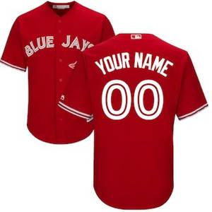 Men's Toronto Blue Jays Customized Scarlet 2017 Cool Base Custom Baseball Baseball Jersey