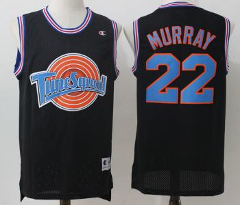 Men's Tune Squad #22 Murray Black Stitched Movie Basketball Jersey