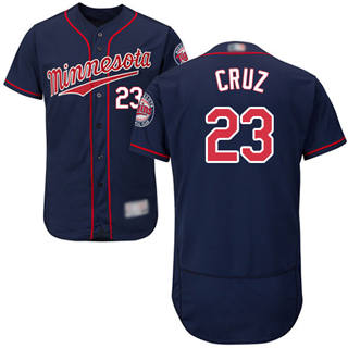 Men's Twins #23 Nelson Cruz Navy Blue Flexbase  Collection Stitched Baseball Jersey