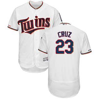 Men's Twins #23 Nelson Cruz White Flexbase  Collection Stitched Baseball Jersey
