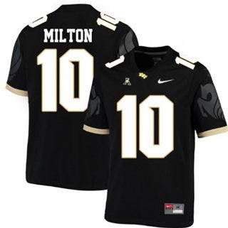Men's UCF Knights #10 McKenzie Milton Black College Football Jersey
