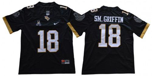 Men's UCF Knights #18 Shaquem Griffin Black College Football Jersey