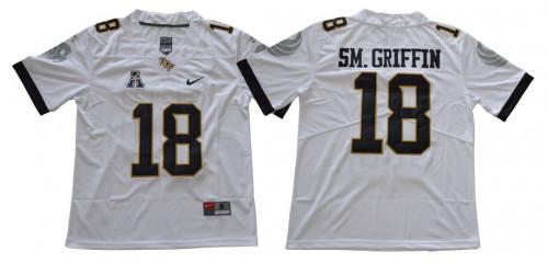 Men's UCF Knights #18 Shaquem Griffin White College Football Jersey