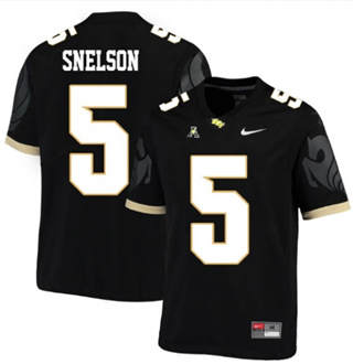 Men's UCF Knights #5 Dredrick Snelson Black College Football Jersey