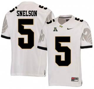 Men's UCF Knights #5 Dredrick Snelson White College Football Jersey