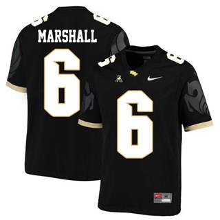 Men's UCF Knights #6 Brandon Marshall Black College Football Jersey