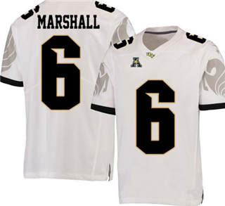 Men's UCF Knights #6 Brandon Marshall White College Football Jersey