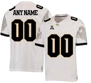 Men's UCF Knights Custom Name Number White NCAA College Football Jersey