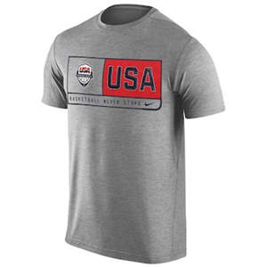 Men's USA Basketball  Team Dri-FIT T-Shirt - Gray