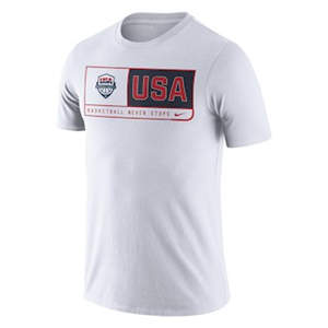 Men's USA Basketball  Team Dri-FIT T-Shirt - White