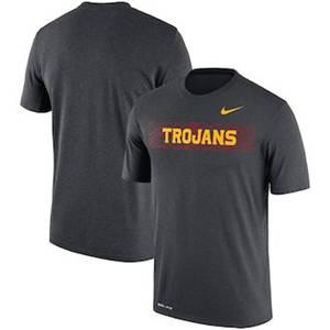 Men's USC Trojans  Sideline Seismic Legend Performance T-Shirt – Charcoal
