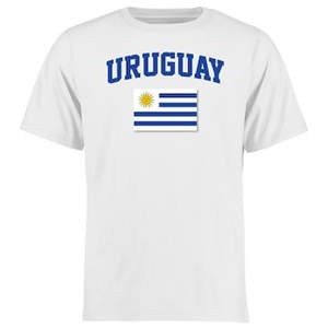 Men's Uruguay Flag T-Shirt - White