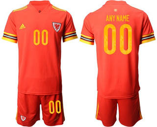 Men's Wales Personalized Home Soccer Country Jersey