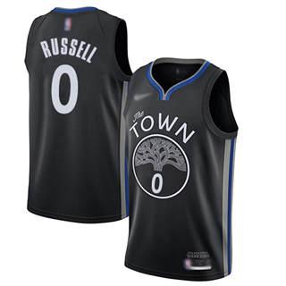 Men's Warriors #0 D'Angelo Russell Black Basketball Swingman City Edition 2019-2020 Jersey