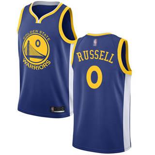 Men's Warriors #0 D'Angelo Russell Blue Basketball Swingman Icon Edition Jersey