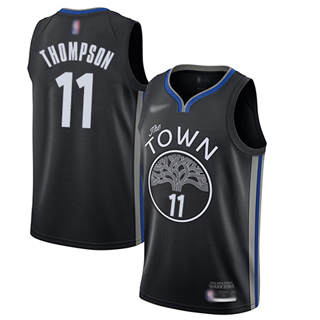 Men's Warriors #11 Klay Thompson Black Basketball Swingman City Edition 2019-2020 Jersey