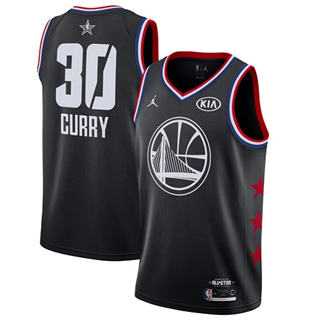 Men's Warriors #30 Stephen Curry Black Basketball Jordan Swingman 2019 All-Star Game Jersey