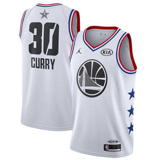 Men's Warriors #30 Stephen Curry White Basketball Jordan Swingman 2019 All-Star Game Jersey