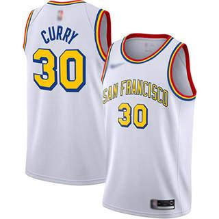 Men's Warriors #30 Stephen Curry White Basketball Swingman Hardwood San Francisco Classic Edition Jersey
